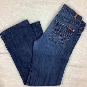 7 FOR ALL MANKIND BOOTCUT ZIG ZAG JEANS
